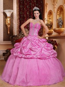 Popular 2013 Bubbles and Beadwork Pink Quinceanera Gown