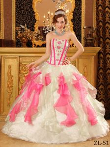 Multi-Color Sweetheart Quinceanera Gowns with Appliques and Ruffles