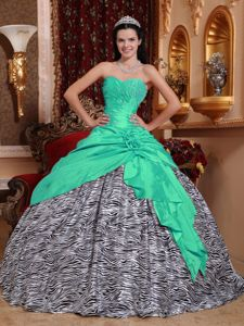 Best Apple Green Quince Dress with Black and White Zebra Print