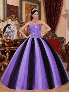 Nifty Sweetheart Beaded Multi-color Quinceanera Party Dress