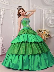 Multi-colored Tiered Ruffles Dress for Quinceanera with Bowknot