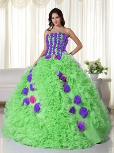 Juno Awards Well-Packaged Handmade Flowers Multi-color Quinceanera Dress for 2014