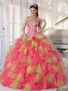 New York Fashion Week Spring 2014 Sweet Sixteen Dresses with Appliques and Ruffles