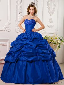 Most Popular Pick Ups Appliqued Blue Dresses for Quince