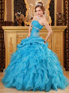 Modest Beaded Ruffled Quinceanera Party Dresses Online
