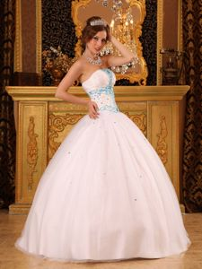 Newest Simple White Quinceanera Gown Dresses with Beading