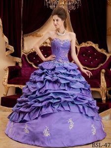 The Best Pick Ups Appliqued Purple Dress for Quince On Sale