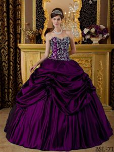 Brand New Purple Strapless Sweet Sixteen Dresses with Appliques