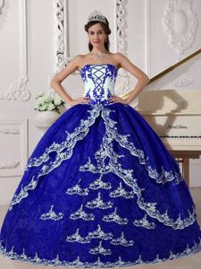 Ball Gown Strapless Appliques Sweet Sixteen Dresses Hot Sale