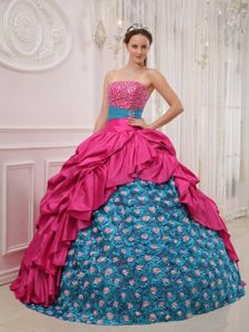 Luxurious Dresses for a Quinceanera with Special Embossed Fabric