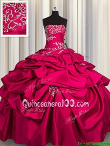 Dynamic Pick Ups Floor Length Ball Gowns Sleeveless Hot Pink Quinceanera Dress Lace Up
