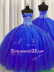 Trendy Puffy Skirt Sleeveless Beading and Appliques Lace Up Quinceanera Dresses
