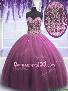 Adorable Floor Length Lilac Ball Gown Prom Dress Sweetheart Sleeveless Lace Up