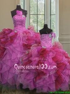 Chic Floor Length Ball Gowns Sleeveless Multi-color Quinceanera Gowns Lace Up