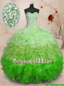 High Quality Floor Length Ball Gowns Sleeveless Multi-color Quinceanera Gowns Lace Up