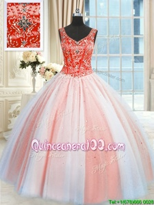Cheap Floor Length Lace Up Quinceanera Gown Multi-color and In forMilitary Ball and Sweet 16 and Quinceanera withBeading and Sequins