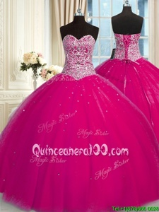 Trendy Halter Top Sleeveless Beading and Sequins Lace Up Quinceanera Dresses