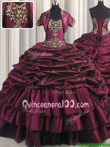 Custom Fit Sleeveless Brush Train Lace Up With Train Beading and Appliques and Pick Ups 15th Birthday Dress