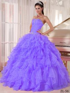 Plus Strapless Beading Bodice Quinces Dresses with Ruffles