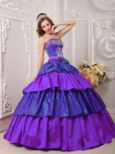 Colorful Sweet Sixteen Quinceanera Dress with Appliques Ruffles