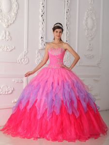 Ruffles and Appliques Accent Sweet Sixteen Dress in Multiple Colors