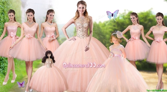 Pretty Sleeveless Lace Up Floor Length Beading Sweet 16 Dress