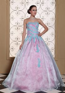 Multi-colored Sweet 15/16 Birthday Dress with Appliques