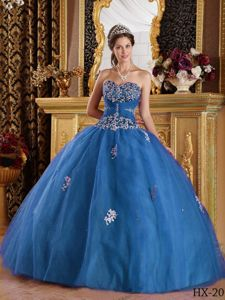 Elegant Teal Beading Appliqued Quinceanera Dresses with Pleats