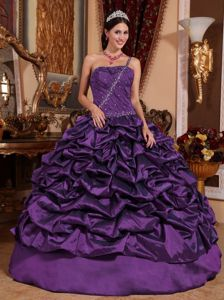 2013 Pick Ups Beaded one Shoulder Quinceanera Gowns in Purple