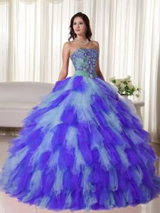 Fast Shipping Appliqued Multi-color Quinceanera Party Dresses for Kate Winslet