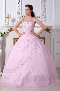 Wholesale Princess Sweetheart Beaded Pink Dress for Sweet 15