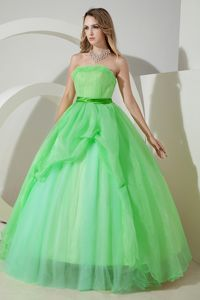 Simple Style Apple Green A-line Dresses for Sweet 16 for Sale