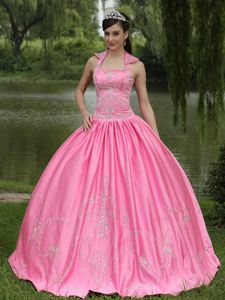 Corset Appliqued Rose Pink Quinceanera Dresses for Wholesale