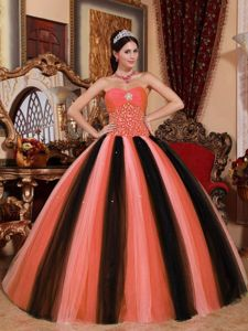 Beading Ruches Accent Sweetheart Quinceanera Dress in Multiple Colors