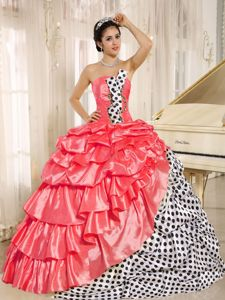 Multi-colored Sweet 15 Dresses Strapless with Pick-ups Wholesale