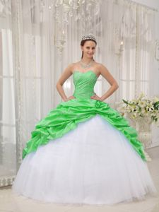 Brand New Pick Ups Spring Green and White Sweet Sixteen Dress
