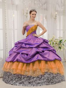 Pick ups Zebra Print Quinceanera Dresses Gowns in Multiple Colors