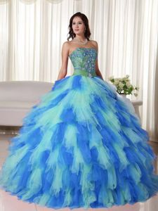 Colorful Quinceanera Dresses with Appliques and Ruffles