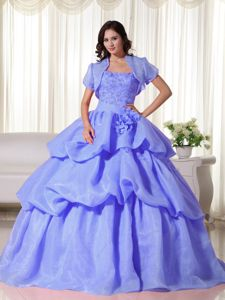 Pick ups and Appliques Accent Quinceanera Dresses in Lavender