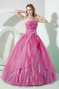 Custom Made Pale Violet Red Quinceanera Dress with Appliques