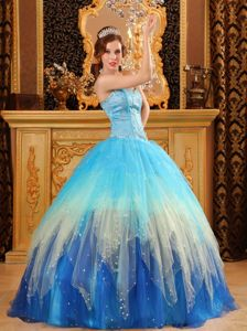 Most Popular Multi-color Sweetheart Quinceanera Dress with Beading