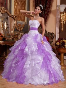 Multi-color Strapless Ball Gown Ruffled Quinceneara Dresses