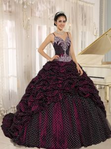 Spaghetti Straps Pick-ups and Appliques Quinceanera Dresses