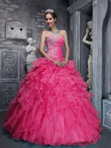 Ball Gown Quinceanera Dresses with Layered Ruffles and Appliques