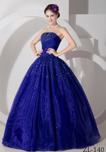 Classic Royal Blue Beading Sweet 15/16 Birthday Dress with Pleats