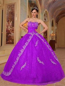 Popular Orchid Beading Quinceanera Gowns with Embroidery