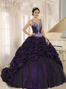 Whitney Houston Appliques Spaghetti Straps Pick-ups Didos Quinceanera Gowns in Fashion