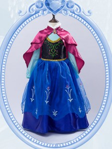 Sweet Embroidery Flower Girl Dresses for Less Royal Blue Zipper Long Sleeves Floor Length