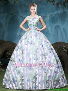 Top Selling Straps Straps Appliques and Pattern Quinceanera Gown Multi-color Lace Up Sleeveless Floor Length