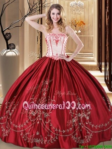 Beautiful Sleeveless Lace Up Floor Length Embroidery Quinceanera Gown